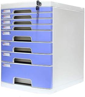 KANJJ-YU Tiroir de bureau Sorter 8 couches verrouillables Bureau de stockage des données confidentialité Tiroir PC de bure...