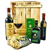 Geschenkset Siena | Exklusiver Geschenkkorb gefüllt mit Rotwein & Olivenöl aus Italien |...