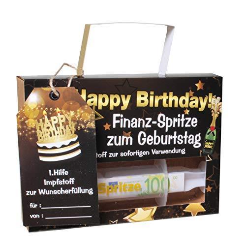 witzige Geld-Spritze Finanzspritze Deko Spritze zum Befüllen mit Geld zum Geburtstag,Happy Birthday