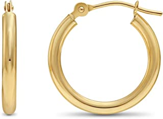 Best gold round hoop earrings Reviews