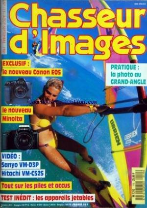 CHASSEUR D'IMAGES [No 115] du 01/08/1989 - LE NOUVEAU CANON EOS - LE NOUVEAU MINOLTA - SANYO VM-D3P - HITACHI VM-C52S - TOUT SUR LES PILES ET ACCUS - LES APPAREILS JETABLES - LA PHOTO AU GRAND-ANGLE