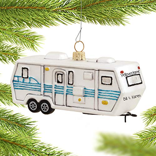 Personalized Travel Trailer Christmas Ornament
