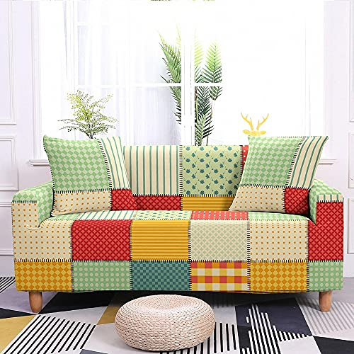 WXQY Funda de sofá elástica nórdica para Sala de Estar Funda de sofá elástica Universal con Todo Incluido Fundas Protector de sofá A1 2 plazas