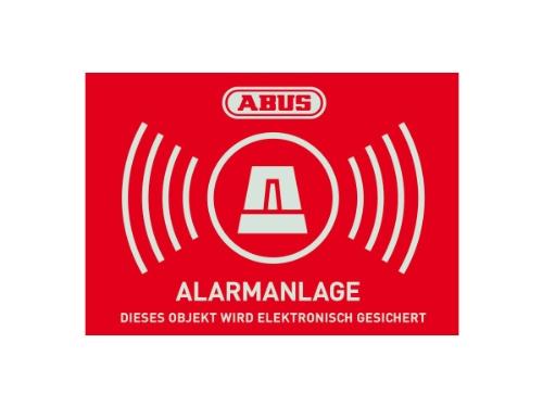 Abus AU1422 Warnaufkleber Alarm -D- 148 x 105 mm