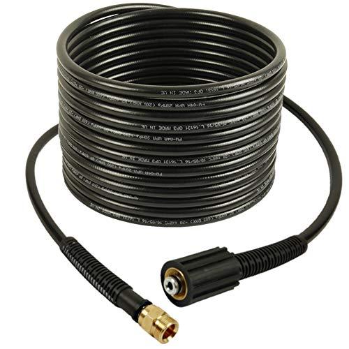 Alargador de manguera de alta presión de 30 m, NW 6 x 1, 200 bar, 60 °C, conexiones M22 x 1,5 IG/M22 x 1,5 AG para limpiador de alta presión