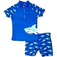 Playshoes UV Protection Bath Set Shark Ropa de natación con protección Solar, Niños, Azul (Original), 86/92