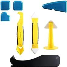 Almencla 8 Unidades/Conjunto De Ferramentas Para Calafetar Espátula Selante Bico Raspador Removedor De Rejunte De Silicone