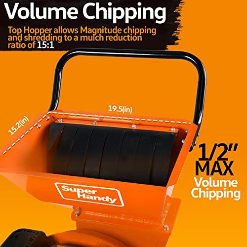 SuperHandy Ultra Heavy Duty 7HP 212cc 3 in 1 Multi-Function Wood Chipper Shredder Mulcher