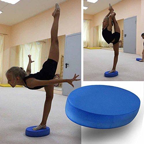 Ovale Balance Pads, Fitness Übung Yoga Schaumstoff Board Balance Pad, Perfekt für Physiotherapie, Pilates, Yoga, Stabilitätstrainer, TPE Blau Oval Kissen, nicht null, blau, 18*31*6cm