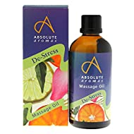 Absolute Aromas De-Stress Massage and Bath Oil 100ml - Fusion Blend of Lavender, Frankincense, Sanda...