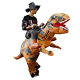 thematys Aufblasbares Dinosaurier Reiter Kostüm mit Hut - Lustiges Luftkostüm für Erwachsene...