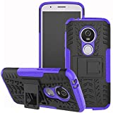 Moto E5 Play Case, Moto E5 Cruise case, Viodolge [Shockproof] Rugged Dual Layer Protective Phone Case Cover with Kickstand for Motorola Moto E5 Play XT1921 2018 (Purple)