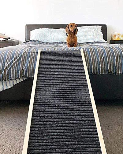 SIMNHMP Pet Große Hunderampe für Auto Hochbett Hohe Couch, Holz Klapp Haustiere Treppe Treppe für den Innen- und Außenbereich, Anti-Rutsch-Oberfläche, (L100xB40cm, H30-40-50-60cm)