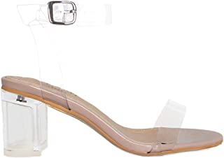 Patent Clear Mid Block Heels