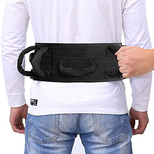 Gait Belt Transfer Belt with Handles Transfer Walking and Standing Assist Aid Quick Release Locking Mental Buckle Safety Gate Belt 55' Strap