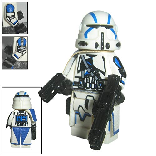 Custom Brick Design 501st Legion Airborne Clone Trooper Sergeant Figur V.1 - modifizierte Minifigur des bekannten Klemmbausteinherstellers und somit voll kompatibel zu Lego