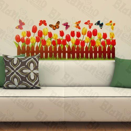 Blancho Active Papillon et Chaleur de Tulipes – Patchs Rouge Stickers muraux Stickers Décoration intérieure