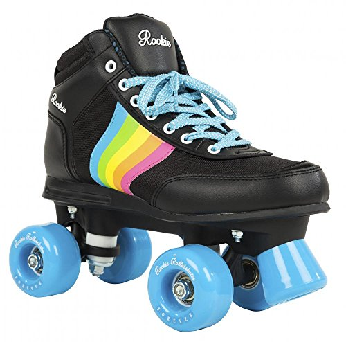 Rookie Forever Rainbow Quad Wheels Rollschuhe (Schwarz, 36 UK)