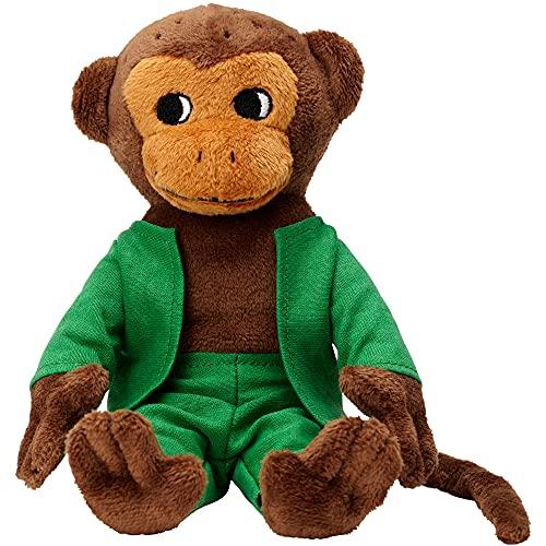 Micki & Friends 44371800 - Herr Nilsson Puppe 16 cm - Pippi Langstrumpfs AFFE als Stoffpuppe - Teddy - Plüschpuppe Kuscheltier - abnehmbare Kleidung - ab 0+ Monate