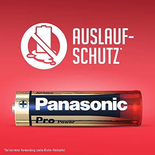 Panasonic Pro Power Alkali-Batterie, AA Mignon, 8er Pack, langanhaltende Energie für Geräte mit mittlerem bis hohem Energieverbrauch, Alkaline