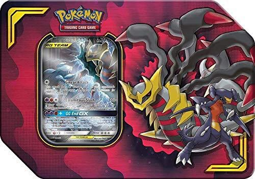 Lively Moments Pokemon Karten Tag Team Tin Box Sun&Moon Garchomp & Giratina-GX EN Englisch Trading Card Game / Metallbox