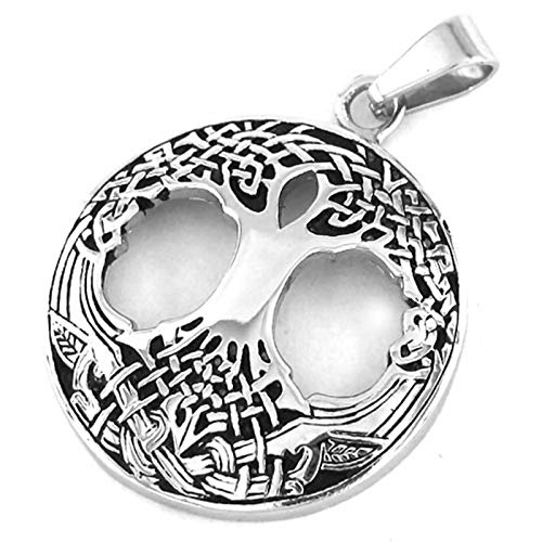 Fantasy Forge Jewelry Celtic Tree of Life Necklace Stainless Steel Yggdrasil Pendant Womens Mens