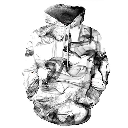 Zwarte Rook 3D Digitale Print Hooded Paar Trui, Losse Hipster Honkbal Uniform stijlnaam XXX-Large Kleur