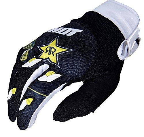 SHOT - Guantes de contacto réplica Rockstar 3.0, color negro/blanco/amarillo, talla Xxxl