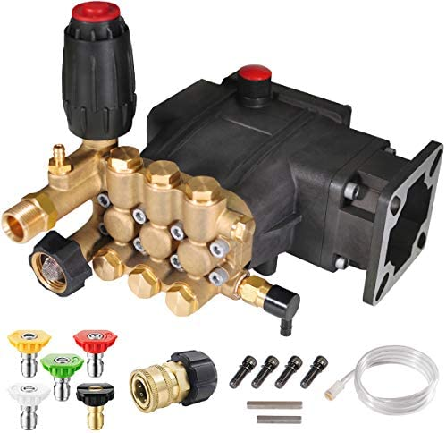 YAMATIC Max 3300 PSI 3 0 GPM Triplex Plunger Pressure Washer Pump Horizontal 3 4 Shaft OEM Replacement product image