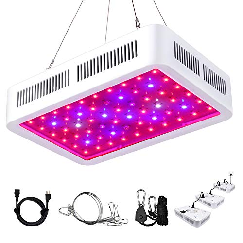 Roleadro LED Grow Light, 600W Grow Light Galaxyhydro Series Plant Lightfor Indoor Plants with UV&IR Adjustable Rope Switch Daisy Chain Outlet Plant Grow Lamp Veg and Flower(Big-Chip 10W LEDs 60Pcs)