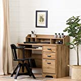 South Shore Furniture Versa Computer Desk with Hutch-Nordik Oak