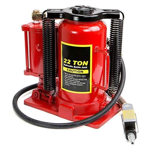 Stark 22 Tons Heavy Duty Air Bottle Low Profile Air Hydraulic Manual Bottle Jack Hoist Auto Truck Manual, Red, 50516