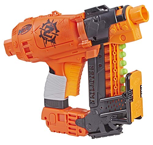 Nailbiter Nerf Zombie Strike Toy Blaster – 8 Official Zombie Strike Elite Darts, 8-Dart Indexing Clip – Survival System – For Kids, Teens, Adults