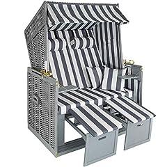 tectake 800805 Ostsee 2-Sitzer, 4-Fach