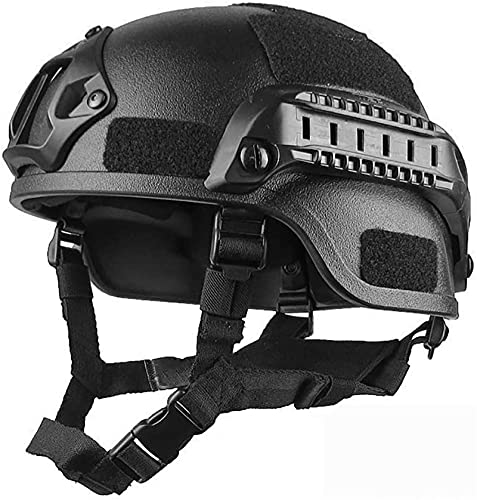 SKYWPOJU Casco rápido táctico Ligero MH Mode para Airsoft Paintball (Color : Black)