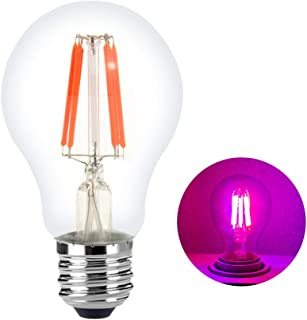 LED Grow Light Bulb, CANAGROW Universal Plant Grow Lights for Indoor Plants, E26 LED Filament Bulb Plant Growing Lamp, 360° Lighting Angle Red Light, Dimmable