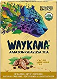 Organic Guayusa Cacao Tea Bags by Waykana, 16 counts | Alternative to Yerba Mate, Coffee and Green Tea: Smooth Flavor No Bitter | Boost Performance, Energy & Mental Clarity