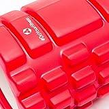 Innovative Faszienrolle »Anasuya«: Massage- und Therapierolle zur effektiven Selbstmassage / hochwertige Verarbeitung & in 5 trendigen Farben(pink blau rot schwarz & lila) erhältlich. Die Sportrolle / Fitnessrolle ist ideal für fasziales Training des Rücken mit einer Abmessung von ca. 34cmx14cm - 3