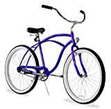Firmstrong Urban Man Beach Cruiser Bike, Mens Bicycle 24-Inch, 1-Speed, Royal Blue