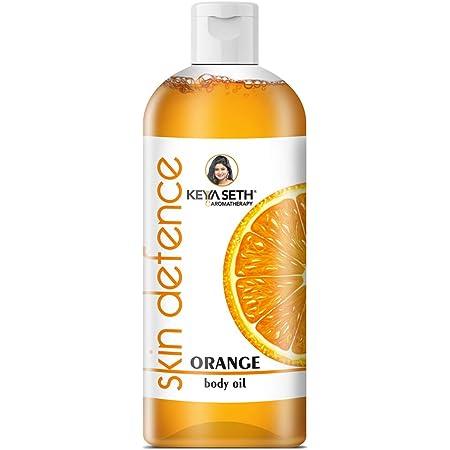 Keya Seth Aromatherapy SkinDefenceOrange Body Oil Skin Lightening, Rejuvenating Non-StickyforDaily Use AfterBath, MassageOilEnrichedwithOrange &Vitamin C.400ml