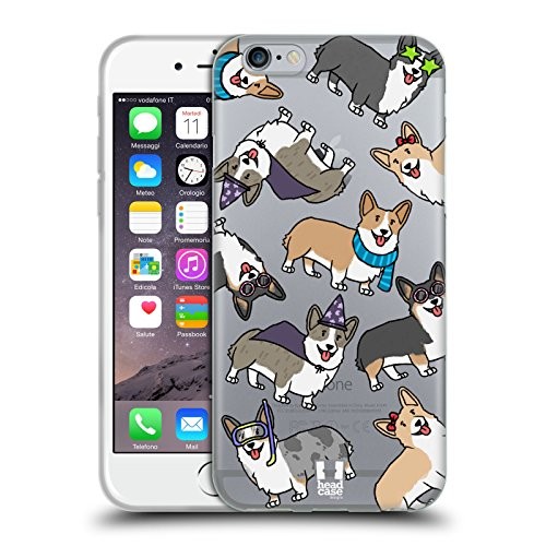 Head Case Designs Corgi Dog Breed Patterns Soft Gel Case Compatible with Apple iPhone 6 / iPhone 6s