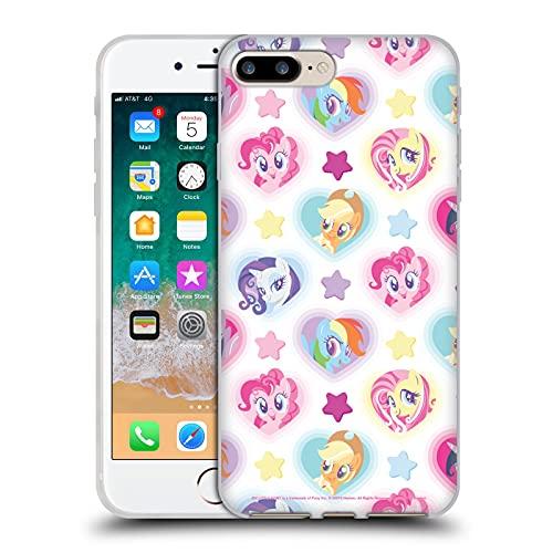 Head Case Designs Licenza Ufficiale My Little Pony Cuore e Stelle Sugar Crush Cover in Morbido Gel Compatibile con Apple iPhone 7 Plus/iPhone 8 Plus