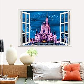 【ディズニ― プリンセス シンデレラ城ウインドタイプ】 Disney Princess Disney castlesウォールステッカー ウォール ステッカー ポスター シール 北欧 貼って はがせる 壁紙 壁シール 子供部屋【CG