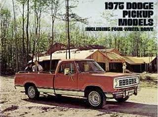 AN ORIGINAL 1975 DODGE PICKUP TRUCK DEALERSHIP SALES BROCHURE - ADVERTISEMENT LITERATURE 75 MOPAR