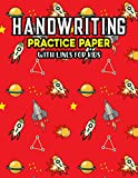 Handwriting Practice Paper With Lines For Kids: Planets Handwriting Practice Paper With Dotted Lined Sheets for Kids, Kindergarteners, Preschoolers, And toddlers