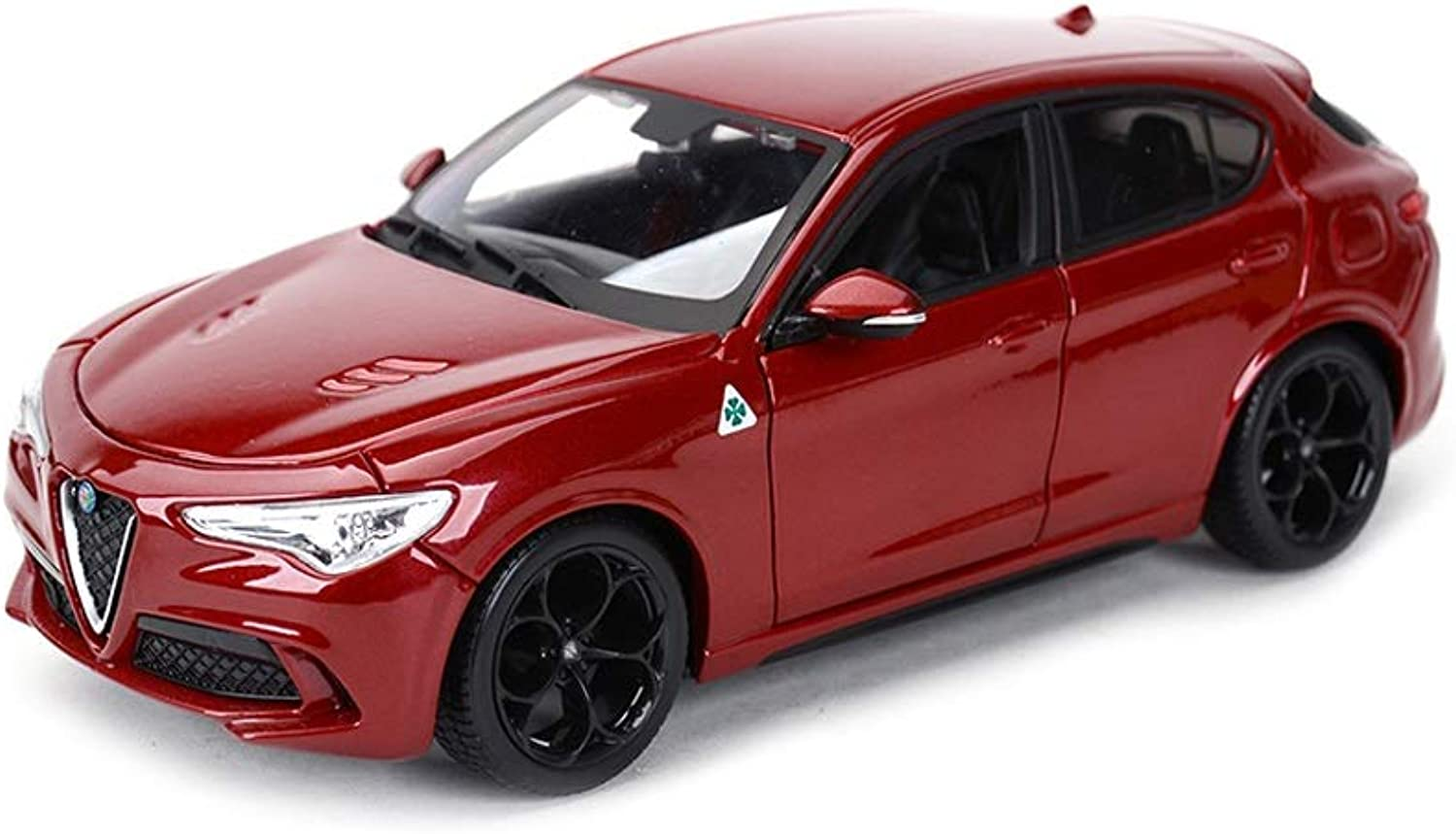 SHLINCar model DieCasting Car Alloy Car Model Simulation 1 24 Proportional Sports Car Alfa Romeo Stelvio Model Gift for Boys Toddlers Kids (color   RED)