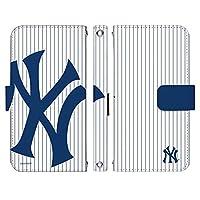 Galaxy A20 SCV46 ケース [デザイン:3.NY・ヤンキース(ST)/マグネットハンドあり] MLB メジャーリーグ ベースボール ギャラクシーa20 scv46 手帳型 スマホケース スマホカバー 手帳 携帯 カバー