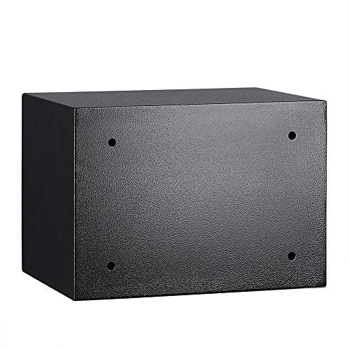 Amazon Basics Steel, Security Safe Lock Box, Black - 0.5 Cubic Feet