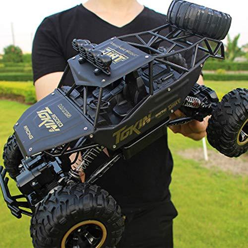 Jsgcf Coche de control remoto, de alta velocidad todoterreno RC Truck escala 1:12 con baterías recargables de 2.4 Ghz coche eléctrico de juguete para todos los adultos y niños