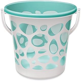 Spotzero By Milton Pebble Plastic Bucket, 20 litres, Medium, Aqua Green